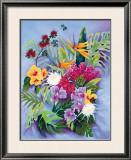 Island Floral Framed Giclee Print by Warren Rapozo
