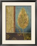 Azure Leaf Art by Viola Lee