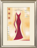 Red Evening Gown II Print by Lucy Barnard