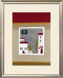 Hilltop Village Print by Muriel Verger