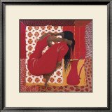 Kneeling in Scarlet Dress II Posters by Mireille Turcot