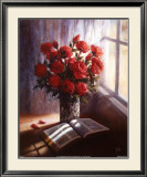 Bible and Roses Print by Lynn Pitard