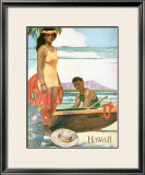 The Story of Hawaii Framed Giclee Print by John Kelly