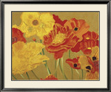 Poppy Garden I Art by Beverly Jean