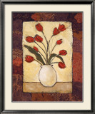Tulips in Red Print by Judi Bagnato