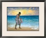 Hawaiian Fisherman Framed Giclee Print by Charles W. Bartlett