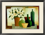 Flowers and Bottles I Posters by Hans Paus