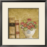 Potted Flowers with Books VII Art by Eric Barjot