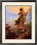 Return of the War Canoes Print by William R. Leigh