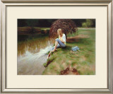 Tranquil Waters Poster by Tina Spratt