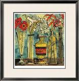 Flowers In Ceramic And Glass I Limited Edition Framed Print by Olivia Maxweller