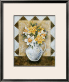 Vase of Narcissus Posters by A. Da Costa