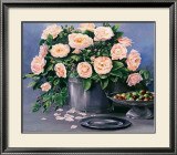 Flowers and Apples II Print by Karin Valk