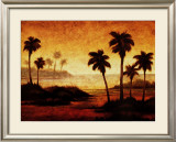 Sunset Palms II Print by Gregory Williams
