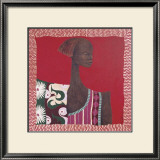 African Pattern Portrait II Posters by Mireille Turcot