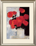 Bouquet of Red Roses in a White Vase Prints by Paul Donaghy