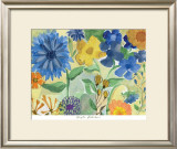 Blue Flowers Prints by Gayle Kabaker