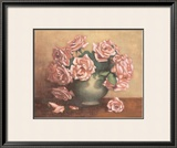 French Cottage Roses II Poster by Linda Hanly