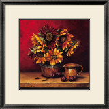 Sunflowers with Plums Poster by Andres Gonzales