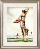 Woman in Sarong Framed Giclee Print by  Gill