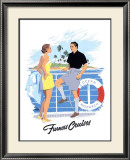 Furness Cruises Framed Giclee Print by Adolph Treidler