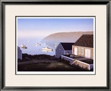 Monhegan Harbor Limited Edition Framed Print by Daniel Pollera