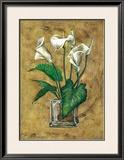 Flores Blancas II Print by A. Vega