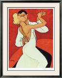 Tango Valentino Limited Edition Framed Print by Marsha Hammel