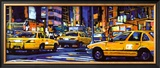 Yellow Cabs, New York City Poster by Roy Avis