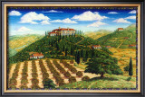 Wine Vinyard Estates Framed Giclee Print by Caroline Haliday