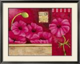 Coeur de Fleurs Posters by Sylvi Pasquier