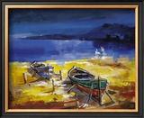 Le due barche Print by Antonio Di Viccaro
