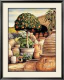 Orange Topiary Poster by Eduardo Moreau