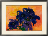 Blue Arrangement Print by Claude Boher