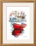 Porto Mediterranio IV Print by Daniela Lecchi