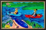 Kayak Blue Prints by Deborah Cavenaugh
