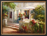 Sunlit Terrace Prints by Roberto Lombardi