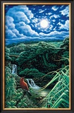 Full Moon over Seven Sacred Pools Poster by Hans Olson