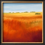 Red Fields I Prints by Hans Paus