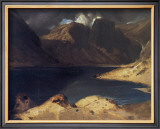 A Lake Scene: Effect of a Storm Framed Giclee Print by Edwin Landseer
