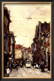 Busy Street at the Hague Netherlands Art by Floris Arntzenius
