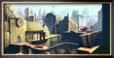 Futuristic City Framed Giclee Print by Kyo Nakayama