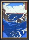 Whirlpools at Naruto Framed Giclee Print by  Hiroshige II