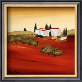 Tuscan Red III Print by Hans Paus