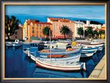 Barques de Pecheurs dans le Port d'Ajaccio Prints by Jean-Claude Quilici