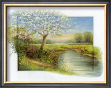 Spring at the Brook Prints by Johan De Jong