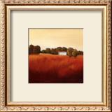 Scarlet Landscape II Print by Hans Paus