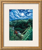 Full Moon over Seven Sacred Pools Framed Giclee Print by Hans Olson