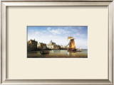 Port Scene, France Prints by Charles Euphrasie Kuwasseg