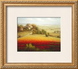 Fields of Red and Gold I Prints by Eugene Laporte